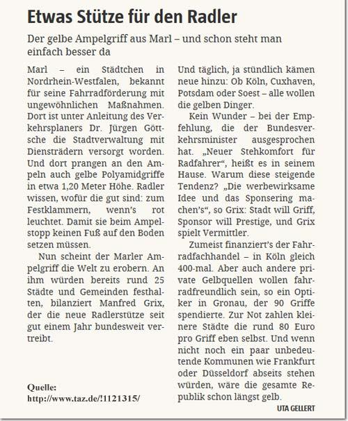 Artikel in der taz, Maerz 2002